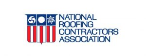 Red, white and blue NRCA logo