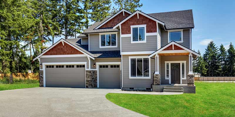 Landscape photo of high-quality house siding