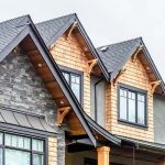 Beautiful assortment of multiple siding variations including stone, wood, and concrete