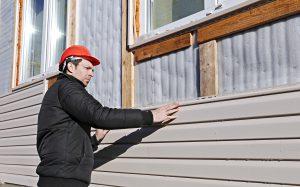 Repairing exterior siding