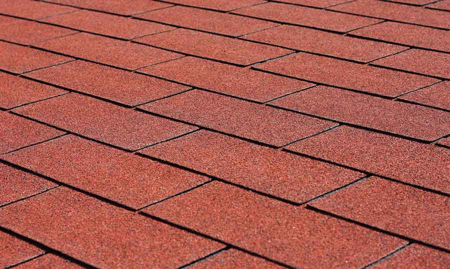 GAF Red Asphalt Shingles