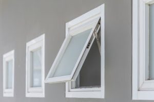 Aluminium-clad awning windows